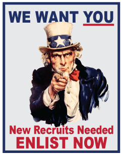 Uncle Sam, Enlist Now, Recruit